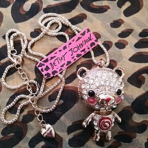 Jewelry - Betsey Johnson Crystal Bear Necklace
